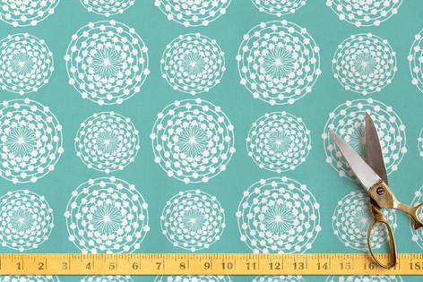 Floral Circle Mix Fabric