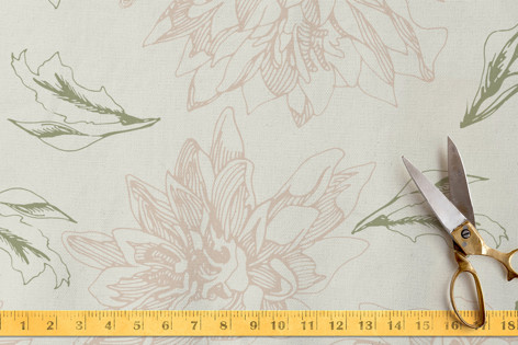 Ethereal flowers Fabric