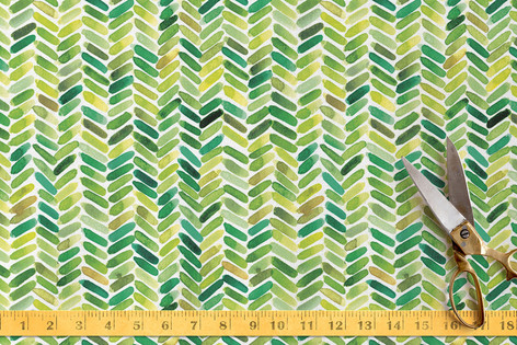 Watercolour Herringbone Fabric