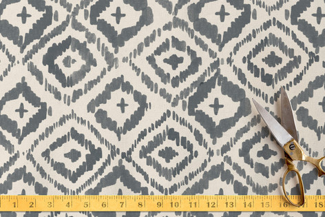 Painterly Ikat Fabric