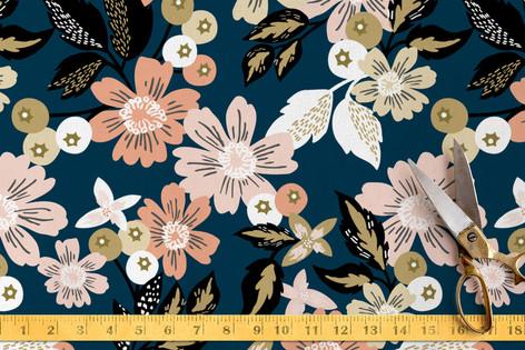Midnight Florals Fabric