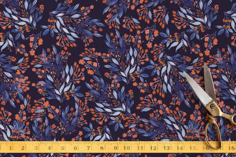 vivid blue Fabric
