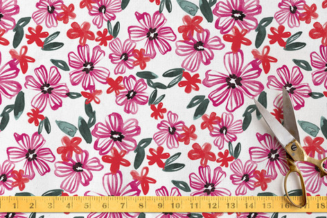 Flowing Florals Fabric
