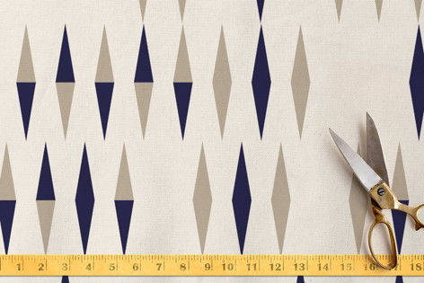 Optical Triangles and Stripes 3 Collection Fabric