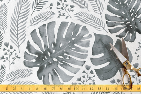 monochrome foliage Fabric