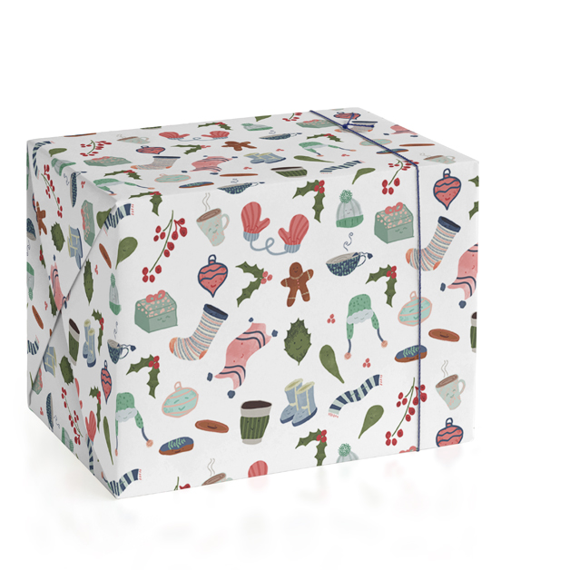 Warm And Cozy Holidays Wrapping Paper