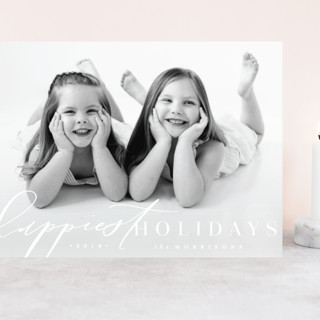 Modern Happy Grand Holiday Cards