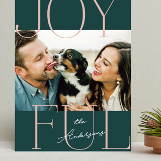 Joyful Serif Grand Holiday Cards