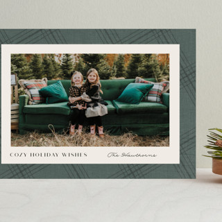 Cozy Plaid Grand Holiday Cards