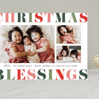 Color Pop Blessings Grand Holiday Cards