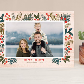 Festive Forest Flora Grand Holiday Cards