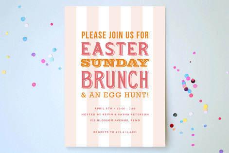 Easter Playbill Party Invitations