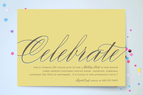 Celebrate Party Invitations
