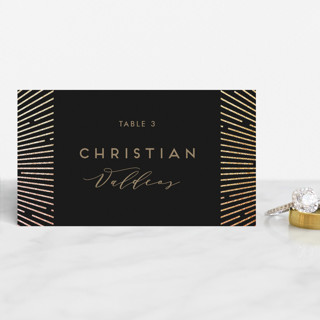 Supernova Foil-Pressed Place Cards