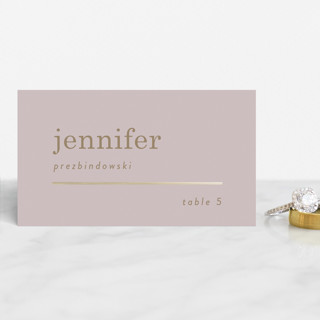 Textbook Foil-Pressed Place Cards