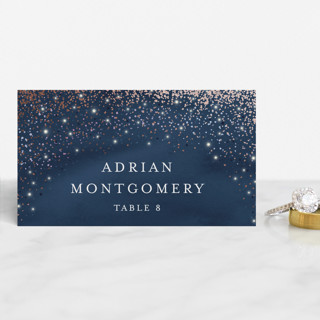 Sparkling Night Sky Foil-Pressed Place Cards