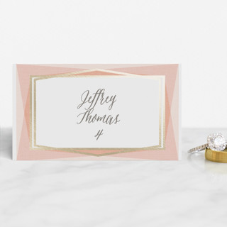 Modern Angles Foil-Pressed Place Cards