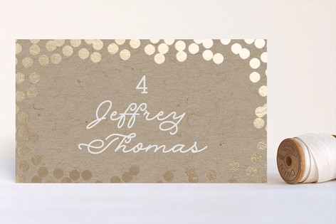Starlight Foil-Pressed Place Cards