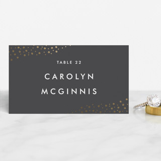 Modern Glam Foil-Pressed Place Cards