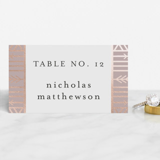 ALEXA Foil-Pressed Place Cards