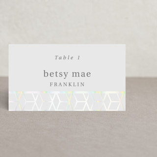 Geometric Pattern Gloss-Press™ Place Cards