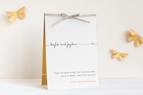 The Happy Couple Unique Wedding Programs