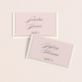 Modern Deco Wedding Place Cards