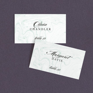 Modern Marble Wedding Place Cards