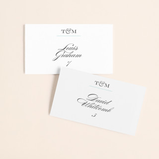 Charming Go Lightly Wedding Place Cards