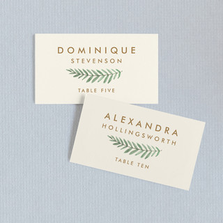 Painted Ferns Wedding Place Cards