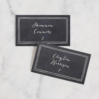 Alabaster Florals Wedding Place Cards