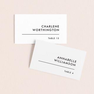 Slanted Wedding Place Cards