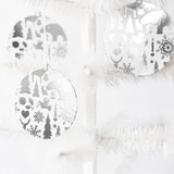Wintry Mix Silver Foil-Pressed