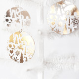 Wintry Mix Gold Foil-Pressed