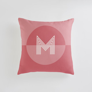 Mod Circle - Warm Personalizable Pillow