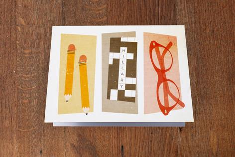 Sunday Crossword Folded Personal Stationery