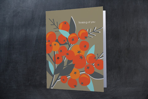 Berries Folded Personal Stationery