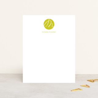 Initial Here Personalized Stationery