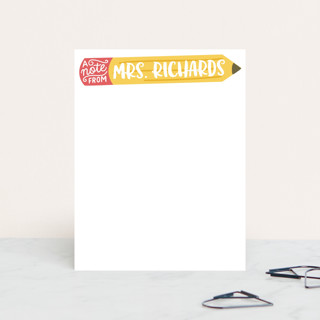 Teacher's Pencil Personalized Stationery