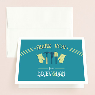Couples Kitchen Bridal Shower Thank You Cards