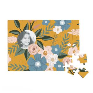 Vintage Floral 60 Piece Custom Puzzle