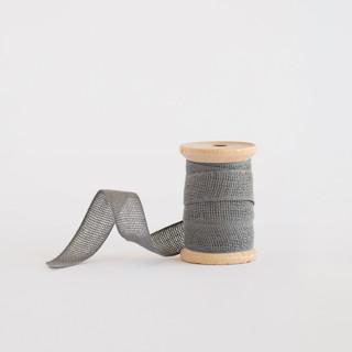Medium Grey Loose Weave Cotton Ribbon