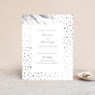 Shimmering Statement Foil-Pressed Reception Cards