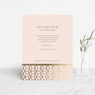 Geometric Pattern Foil-Pressed Reception Cards