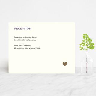 Destination Foil-Pressed Reception Cards