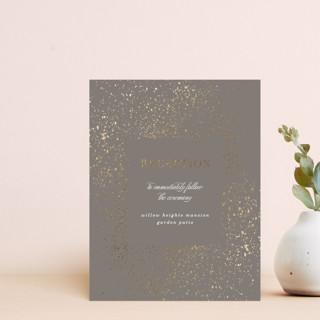 Flecked Frame Foil-Pressed Reception Cards