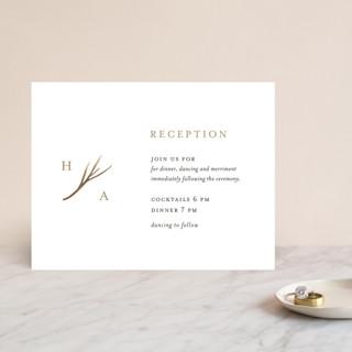 antler Foil-Pressed Reception Cards