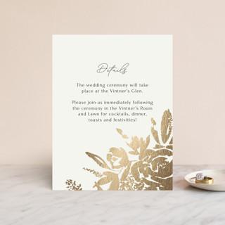 Wedding veil Foil-Pressed Reception Cards