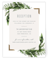 Diamante Foil-Pressed Reception Cards