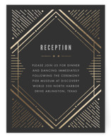 Big Spark Foil-Pressed Reception Cards